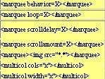html for øvede - html tags som marquee, tabel, kommentar o.l.